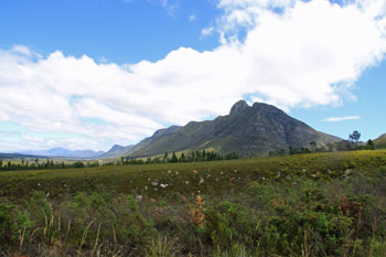 Sleeping Beauty Mountain near Riversdale, South Africa