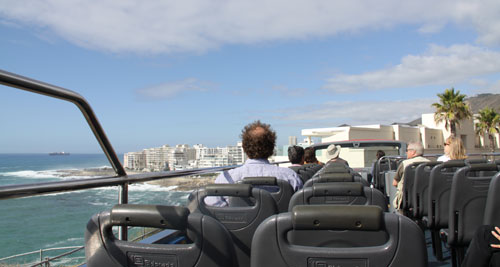 Tour Cape Town on an open topped tourist sightseeing bus